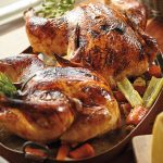 Lidia Bastianich's Roasted Guinea Hen with Balsamic Glaze