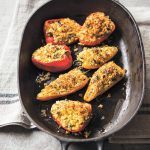 Savory Baked Peppers with Feta and Bread Crumbs recipe