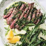 Flank Steak Tagliata with Salsa Verde