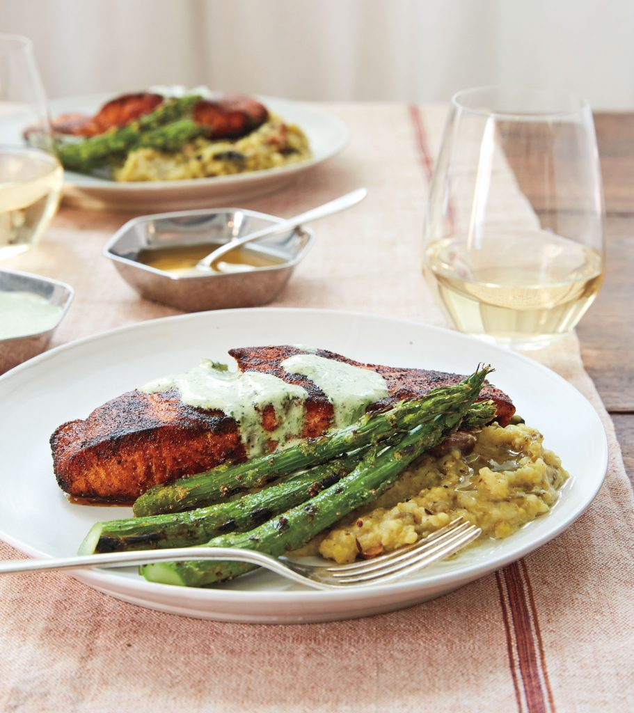 Masala-Crusted Salmon recipe (c) Sidney Bensimon