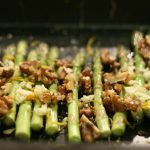 Asparagus with Walnuts & Goat Cheese