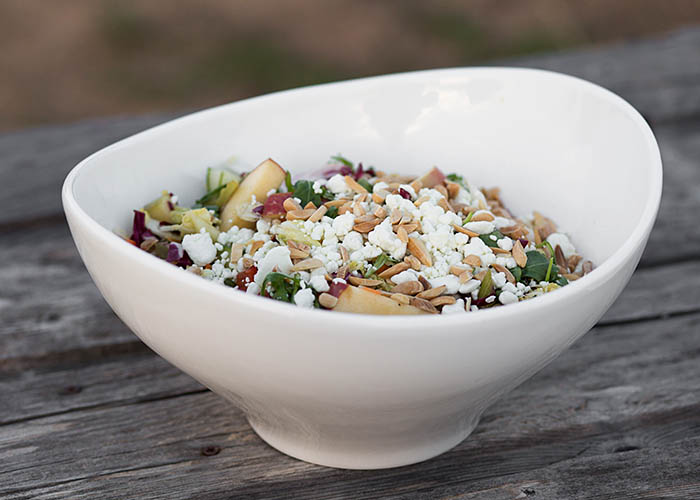 Chopped salad recipe photo by Joy Jacobs