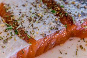 salmon and herbs