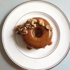 """Boozy Rum Caramel Doughnut with Walnuts """"The Faith Doughnut"""""""