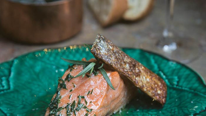 Faith middletons food schmooze salmon with tarragon butter grilled the french way forumfinder Gallery