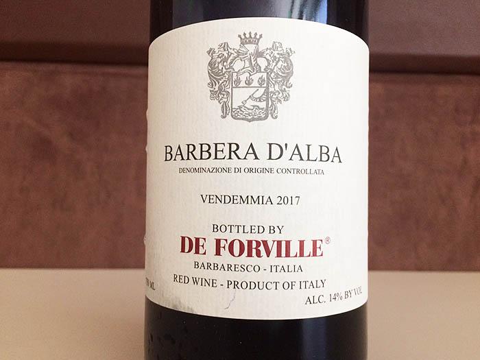 Barbera d Alba_De Forville_Barbaresco_red Wine