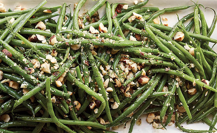 Ina Garten_haricot verts with hazelnuts and dill_recipe