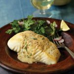 Searing Inspiration_Searing Inspiration_Halibut With Coarse Mustard And Rosemary Sauce recipe