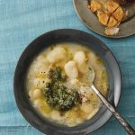 Brothy Beans with Roasted Garlic and Parmesan Rind recipe