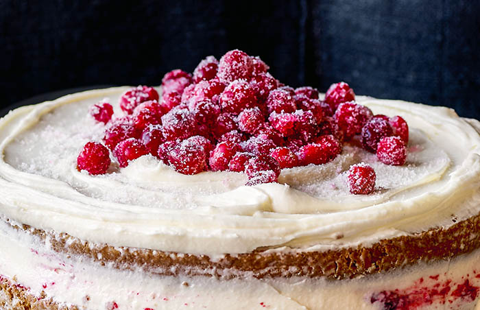 Triple-Layer Parsnip and Cranberry Cake recipe