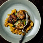 Sumac-Seared Scallops with Mostarda recipe_Nik Sharma