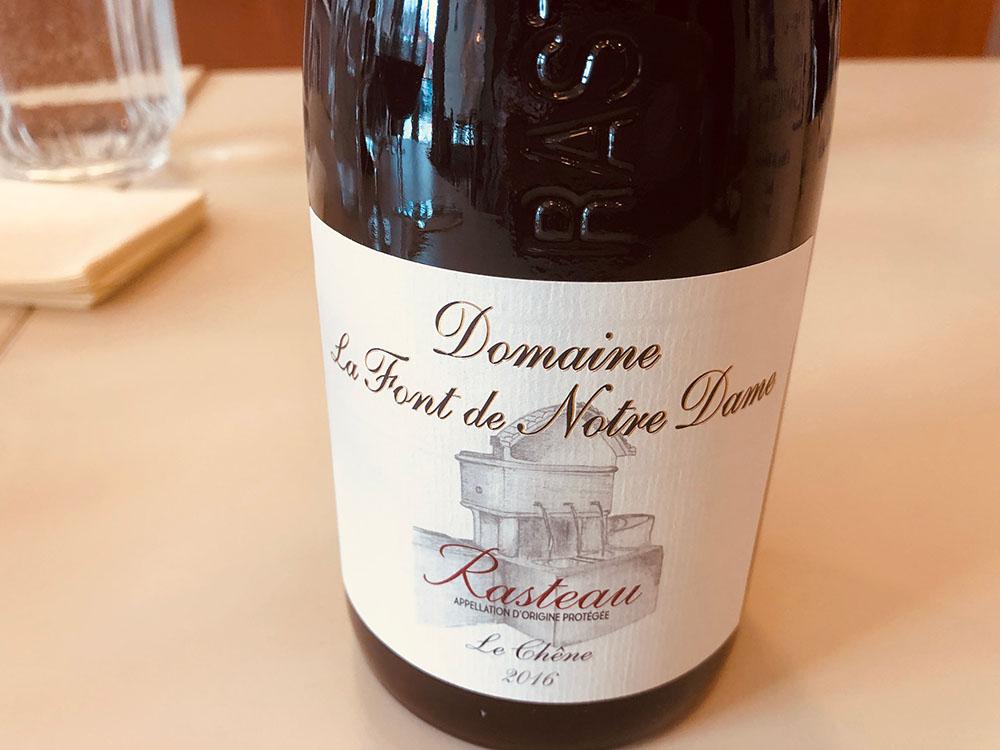 Domaine La Font de Norte Dame red wine