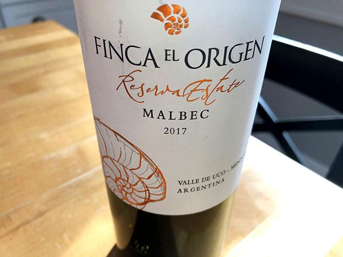 Finca El Origen Malbec wine